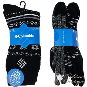 Columbia Women's Socks 2 Pairs Shoe Size: 4-10 NWT